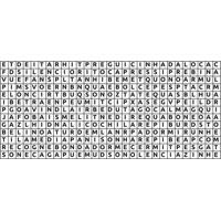 Adesivo De Parede Para Quarto Caça Palavras Preto 105 Cm