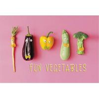 "Tapete ""Fun Vegetables""- Rosa & Verde- 60X40Cm- Tapetes Junior"