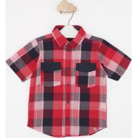 Camisa Xadrez- Vermelha & Azulgreen