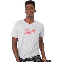 Camiseta Starter Lettering Cinza