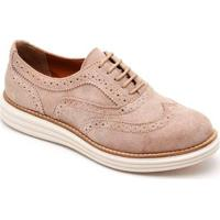 Oxford Couro Mr.Light Feminino - Feminino-Nude
