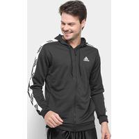 Jaqueta Adidas Pro Madness Masculina - Masculino-Preto+Branco