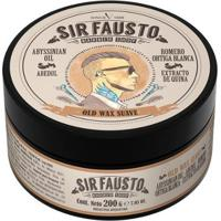 Pomada Suave Para Cabelo Sir Fausto - Old Wax 200G - Unissex-Incolor
