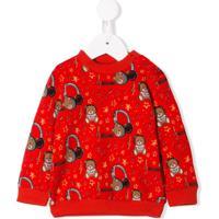 Moschino Kids Bear Print Sweatshirt - Vermelho