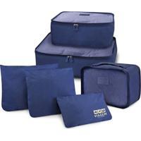 Kit Organizador De Malas De 6 Peças Jacki Design Viagem Azul