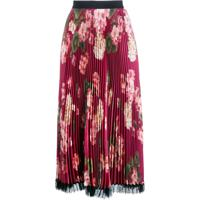 Twin-Set Pleated Floral Skirt - Rosa