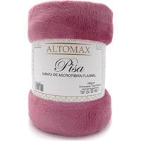 Manta Microfibra Flannel Casal Pisa 1,80X2,20 - Altomax - Rosa Glamour
