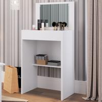 Penteadeira 1 Porta Com Espelho Pe508 Branco - Art In Móveis