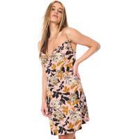 Vestido Fiveblu Curto Floral Rosa/Amarelo