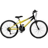 Bicicleta Master Bike Aro 24 Masculina Ciclone Plus Amarelo