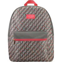 Mochila Com Tag & Bolso- Cinza & Vermelha- 42X33X14Cjacki Design