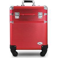 Maleta Profissional De 2 Andares C/ Rodinhas De 360º Graus Jack Design - Feminino-Vermelho