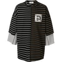 Kidill Oversized Chaos Striped T-Shirt - Verde