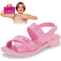 Sandália Infantil Barbie Volta Ao Mundo Grendene Kids - 22025 Rosa 28