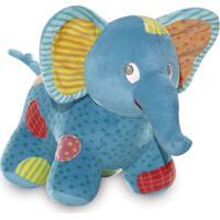 Pelúcia 31 Cm - Elefantinho Azul - Buba - Unissex-Incolor