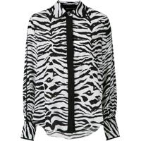 Bo.Bô Camisa Animal Print De Seda - Estampado