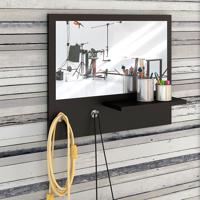 Painel Decorativo C/ Espelho Trend – Estilare - Preto