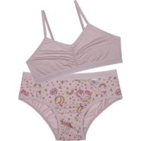 Conjunto Top Infantil Miss Delrio (49882) Quartzo/Unicórnio