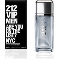 Perfume Masculino 212 Vip Men Carolina Herrera Eau De Toilette 200Ml - Masculino-Incolor