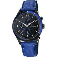 Relógio Festina Masculino Couro Azul - F16994/2