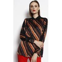 Camisa De Tranã§As - Preta & Vermelha- Cotton Colors Cotton Colors Extra