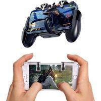 Joystick Controle Gamepad Com Cooler E Par De Gatilho R1 L1