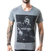 Camiseta T-Shirt Liferock Elvis - Masculino-Cinza