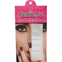 Adesivo Unha Fashion Nail Metálica Prata 1 Cartela Com 16 Adesivos