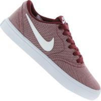 Tênis Nike Sb Check Solar Canvas P - Feminino - Vermelho/Branco