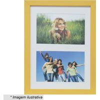 Painel Multifotos Insta- Amarelo & Branco- 28X21X1,5Kapos