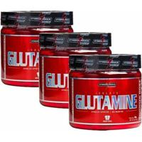 Combo 3 Glutamina Powder Isolate - Natural 300G - Integralmédica - Unissex