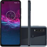 "Smartphone Motorola One Action Azul Denim 128Gb 4Gb Ram 6,3"" Full Hd"