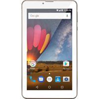 "Tablet M7 3G Plus Tela"" 7 Memória 8Gb Dourado Multilaser"