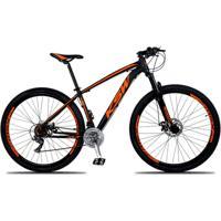 Bicicleta Aro 29 Ksw Xlt 24V Câmbios Shimano Altus M310 Freio A Disco Hidráulico Trava Na Suspensão - Unissex