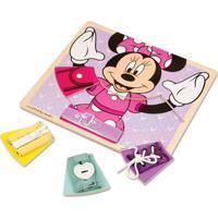 Peças De Encaixe De Madeira - Disney - Minnie Mouse - New Toys