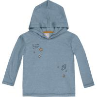 Camiseta Infantil Menino Com Estampa E Capuz Hering Kids