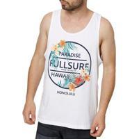 Camiseta Regata Full Masculina - Masculino-Branco