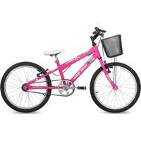 Bicicleta Mormaii Aro 20 Em Alumínio Sweet Girl Com Cesta - Rosa