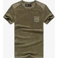 Camiseta Masculina Manga Curta - Verde
