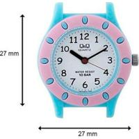 Relógio Q&Q Infantil Feminino - Feminino-Rosa+Azul