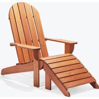 Cadeira Adirondack - Com Peseira Madeira Clara