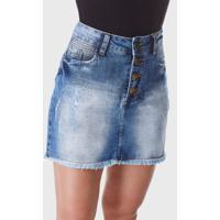 Mini Saia Hno Jeans Minissaia Azul