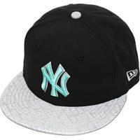 Netshoes  Boné New Era Aba Reta Fechado Mlb Ny Yankees Refle - Unissex 71d4da70bab