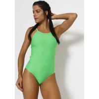 Body Com Tiras & Vazados - Verde Neon - Patrapatra