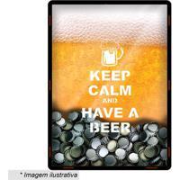 Quadro Porta Tampinhas Cerveja- Amarelo & Branco- 30Cia Laser