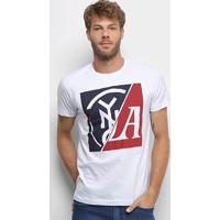 Camiseta Industrie Estampada Masculina - Masculino-Branco