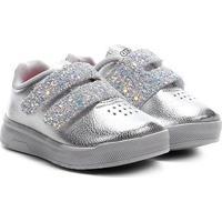 Tênis Infantil Ortopé Velcro Glitter - Feminino-Mescla