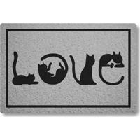 Capacho Linha Tapets Love Gatos