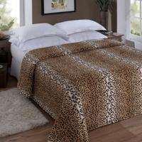 Manta Animal Print Casal Leopardo 1,80X2,20M Jolitex