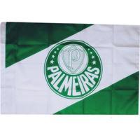 Bandeira Palmeiras 2 Panos Bordada Oficial 1,28 X 0,90 Mitraud - Unissex